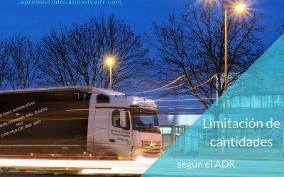 Limitación de cantidades según el ADR