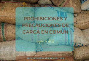 Prohibiciones y precauciones de carga en común