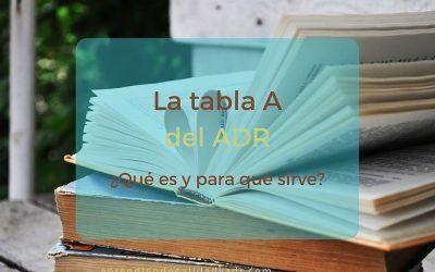 Conociendo la Tabla A del ADR